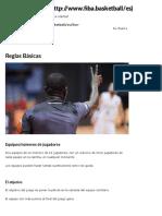 Reglas Básicas -  Basketball