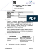 Syllabus - PRODUCCION