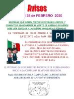 Avisos # 7 Febrero 2020