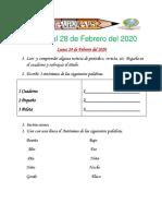 Tarea Del 24 Al 28 de Febrero de 2020.