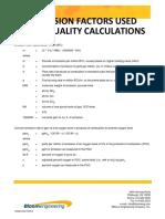 NOx conversion factors 1-16