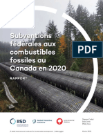 Rapport - Subventions fédérales aux combustibles fossiles au Canada en 2020