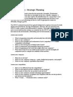 Sratedgic Planning - SWOT Analysis