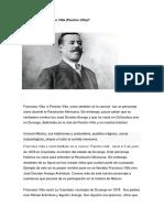 Biografía de  Francisco Villa