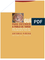 PIÑERO, Antonio. Guía Para Entender a Pablo de Tarso.
