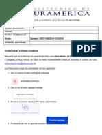 FORMATO ÚNICO DE  PRESENTACIÓN