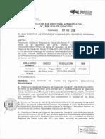 RESOLUCION SUB DIRECTORAL ADMINISTRATIVA N 169-2018-GRJ ORH