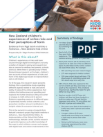 New Zealand Children Online Risks Report 2020