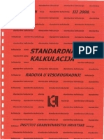 Standardna Kalkulacija Radova u Visokogradnji