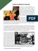 14 DE FEBRERO - Vicente Guerrero Muere Fusilado