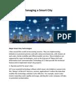 2-Managing a Smart City