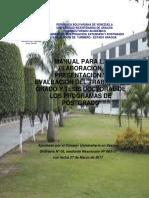 Manual para la Elaboración, Presentación y Evaluación del TG y TG de los Programas de Postgrado (abril 2019)