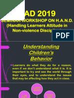 GAD 2019 (Understanding Children's Behavior)
