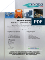 Kyodo Marine Pumps and Compressors Line Cards