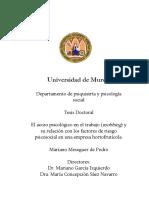 TD - S_F El acoso psicológico en el trabajo MOBBING y su relación con los factores de riesgo psicosocial en una empresa HORTOFRUTÍCOLA