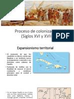 Proceso de colonización (Siglos XVI y XVII