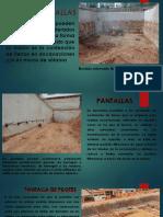 MUROS Y PANTALLAS  Trabajo diapositivas