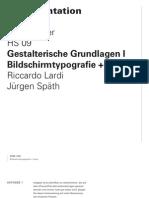Gestalterische Grundlagen I - Bildschirmtypografie & Icons