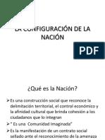 LA CONFIGURACIÓN DE LA NACIÓN  Y EL ESTADO LIBERAL