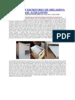 MEDIDAS DE ESCRITORIO DE MELAMINA DE 18 mm Facil