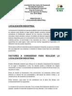 Practica 3 - Localización Industrial