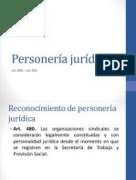 Personería jurídica relaciones laborales 2