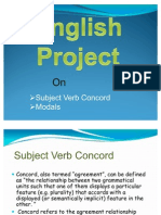 Subject Verb Concord & Modals
