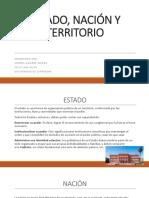 ESTADO, NACIÓN Y TERRITORIO