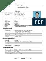 Curriculum Vitae Agung Sanjaya S.KM 2019