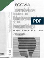 interrelaciones entre la odontoestomatologia y la fonoaudiologia (Ma. Luisa Segovia)