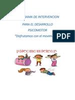 PROGRAMA DE PSICOMOTRICIDAD 2020