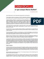 Cómo y por qué compra Warren Buffett