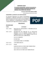 SEMINARIO TALLER CIMA 2019