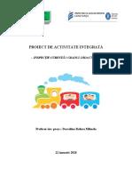 inspectie PROIECT DE ACTIVITATE INTEGRATĂ