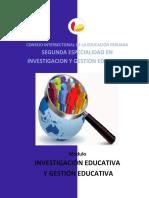 curso 6 INVESTIGACIÓN EDUCATIVA Y GESTIÓN EDUCATIVA