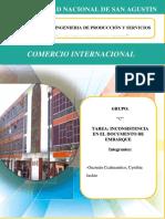 COMERCIO INTERNACIONAL_INCONSISTENCIA DE EMBARQUE (1)
