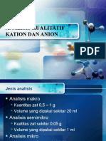 Analisis Kualitatif Kation Dan Anion