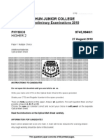 2010 YJC H2 Phy Paper1 Qn Ans