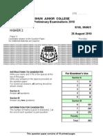 2010 YJC H2 Phy_Paper3_Qn