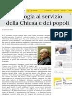 Galli Teologia Al Servizio Della Chiesa e Dei Popoli