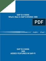 What's New in SAP S4HANA 1909