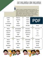 ATIVIDADE DE PALAVRA EM PALAVRA (para primeiro dia de aula!)  EIXOS ANÁLISE ORALIDADE + ANÁLISE LINGUÍSTICA