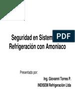 Seguridad en sistemas de refrigeracion con amoniaco