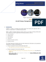 Aircraft Energy Management During Approach