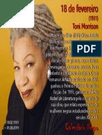18 de fevereiro - Toni Morrison