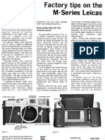 Leica m2 m3 m4 Basic Repair