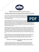 White House Summit on Community Colleges Fact Sheet 100410