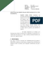 CONTEST.DEMANDA DE INDEMNIZACIÓN POR DAÑOS Y PERJUICIOS