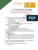 PROJECT FUNDING PROCEDURES - GSF