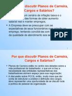 PLANO DE CARREIRA CARGOS E SALÁRIOS